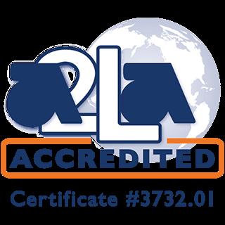 A2LA Accredited logo certificate