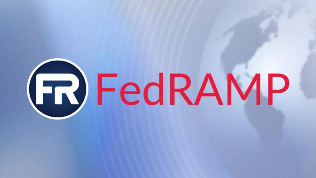 FedRAMP Logo with global themed background