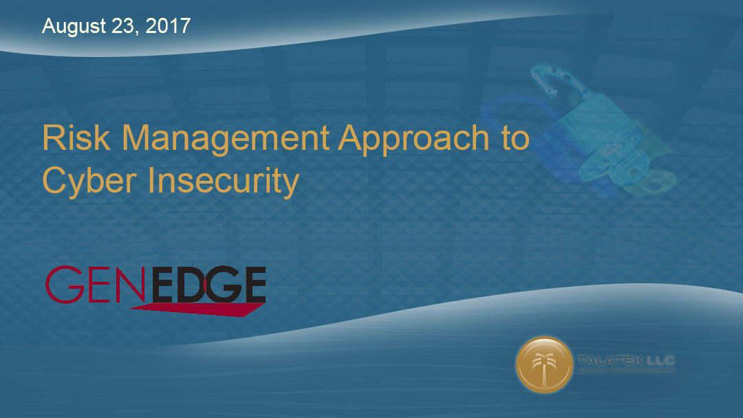 Genedge Webinar Cyber Security