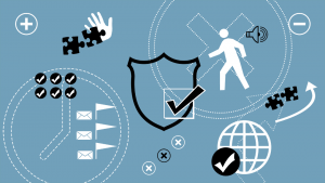 Planning Security and Management Pictogram Graphic